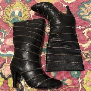 Jeffrey Campbell Handmade Ibiza Zippers Boots